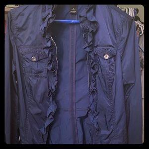Whit house black market light jacket/shirt